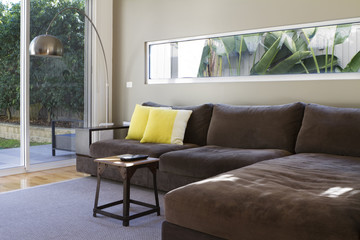 Contemporary lounge sofa interior