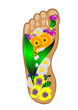 foot with flowers