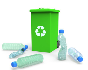 3D Plastic Bottles - Recycling