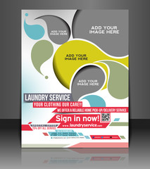 Vector Laundry Service Flyer