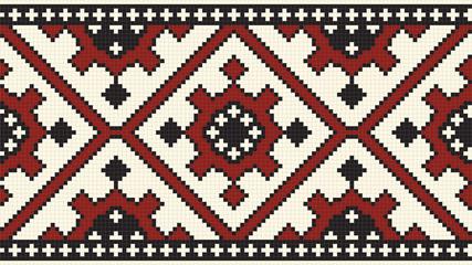Ethnic slavic seamless pattern