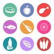 Conjunto de iconos de alimentación