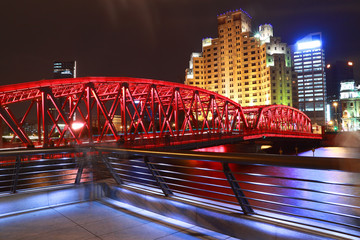 Shanghai bund garden bridge at night