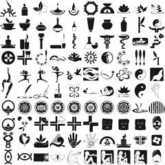 Icone per la cura del corpo e della mente