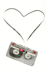 Cinta de audio con forma de corazón