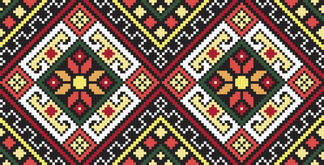 Ukrainian ethnic seamless ornament, #37, vector