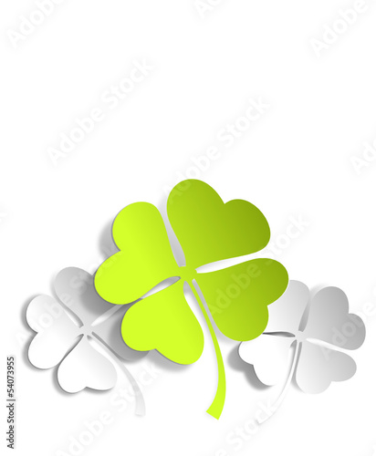 Kleeblätter grün