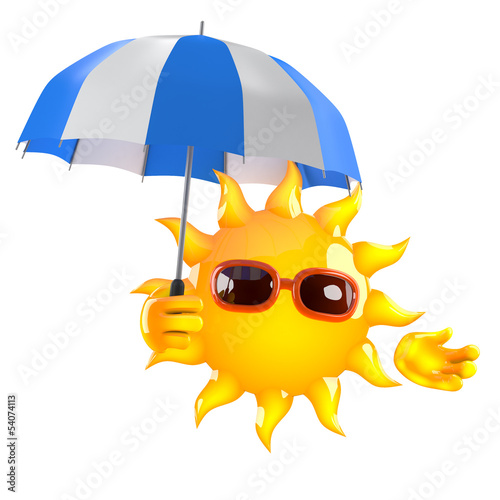 Sunshine has an umbrella