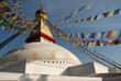 Boudhanath Stupa and prayer flags