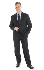 Portrait Of Confident Mature Businessman In Formals