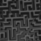 Dark maze background, 3d