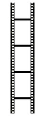 Vertical filmstrip on white background
