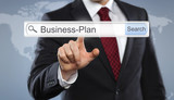Businessman with Toolbar Businessplan