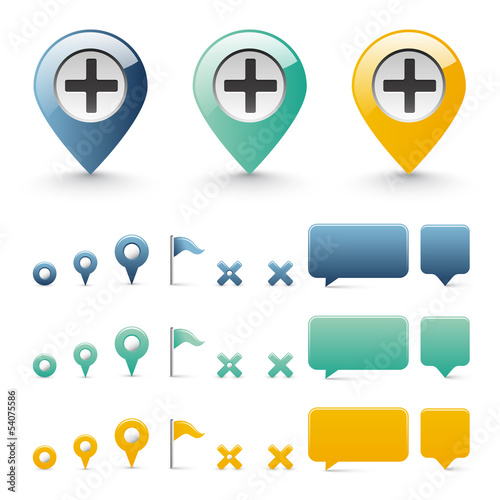 navigation icons - basic elements set 1