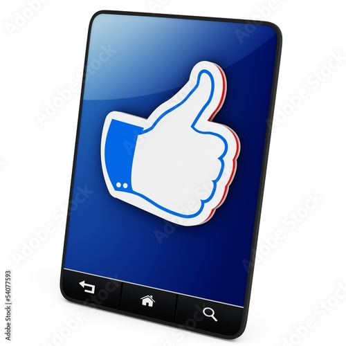 3d generic tablet with like sign