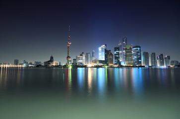 Dawn of the Shanghai Modern Architectural city skyline