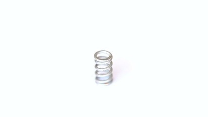 Steel spring rotates