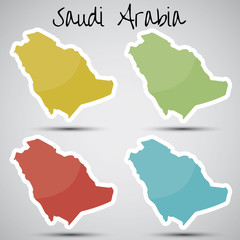 stickers in form of Saudi Arabia