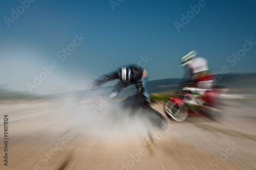Abstract image from an  off-road motocross racing