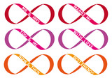 infinity sign, endless love, vector set