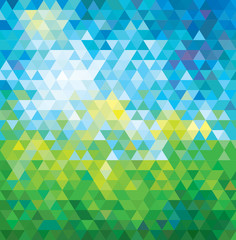 ABSTRACT MOSAIC SUMMER BACKGROUND. VECTOR.