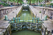Leinwanddruck Bild - Ecluse du temple, canal Saint-Martin, Paris