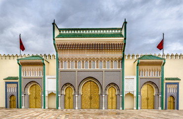 entrance of the royal palace of Fez