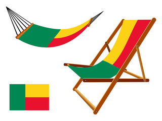benin hammock and deck chair set