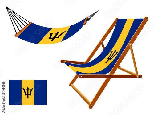 barbados hammock and deck chair set