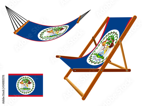 belize hammock and deck chair set