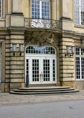 Schloss Münster, Eingang auf der Rückseite detailliert