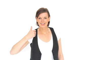junge Frau mit positiver Haltung
