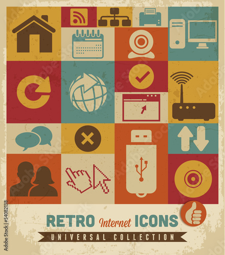 Internet icons set.Vector