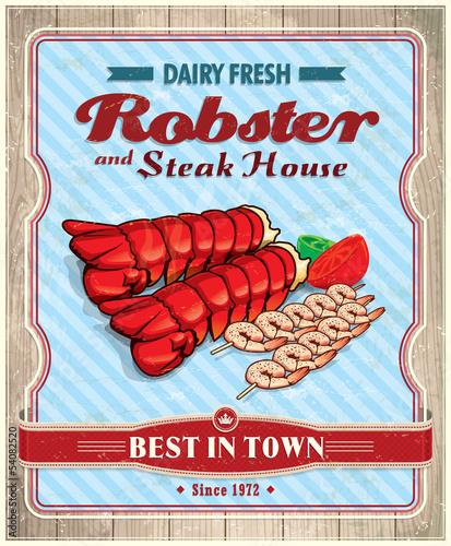 Vintage Robster poster