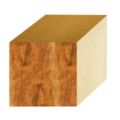 large wood cube with lacewood,curly bubinga and sycamore