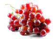 Bunch of red grapes , fresh with water drops
