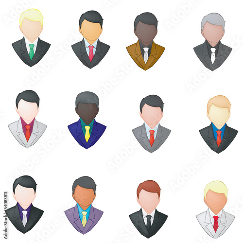 Set of businessman icon (pencil line)