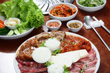 Korean cuisine : barbecue grill set