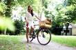 hübsches Model mit Fahrrad