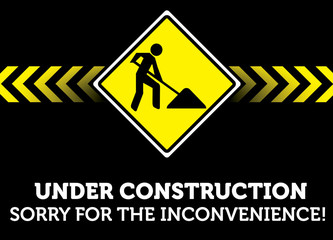 Under Construction / Sorry for - vector