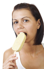 Women eating ice cream