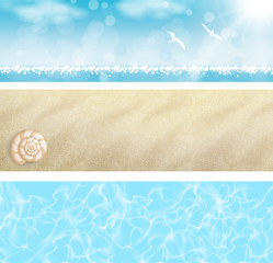 Set Banner spiaggia