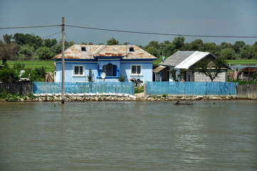 Traditional rural houses in the Danube delta, Romania
