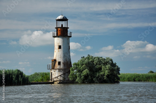The old, abandoned lighthouse of Sulina, Danube delta