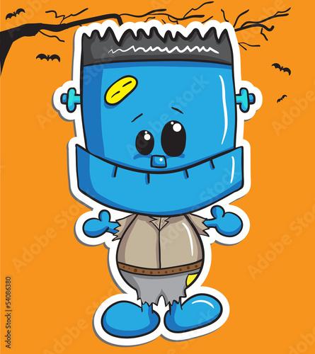 Cute halloween character - Blue Monster