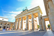 canvas print picture - Brandenburg gate of Berlin, Germany