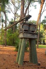 Old manual sugar cane press machine