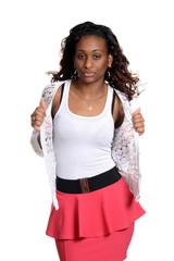 black woman fashion model