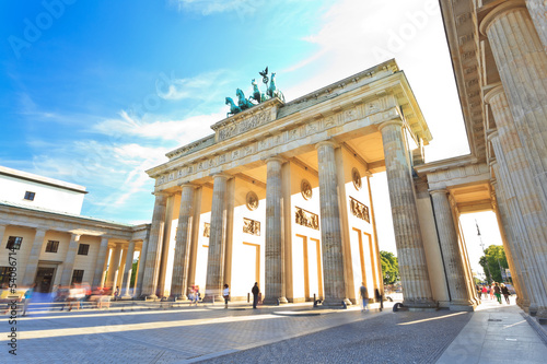 canvas print picture Brandenburg gate of Berlin, Germany