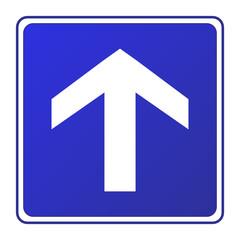 Einbahnstraße Pfeil Schild